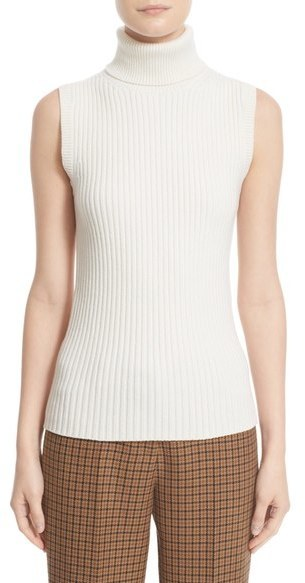 f0ee9d85f7b98 ... Wool Sleeveless Tops Michael Kors Michl Kors Sleeveless Ribbed Stretch  Cashmere Turtleneck Sweater ...