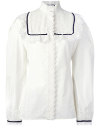 Gucci Pleat And Frill Yoke Blouse