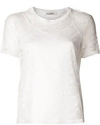 White Lace Crew-neck T-shirt