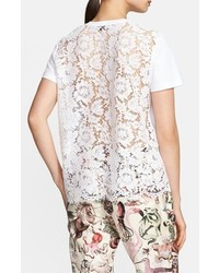 Valentino Lace Back Cotton Short Sleeve Tee