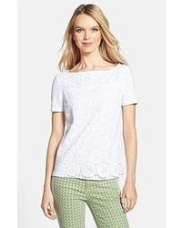 Tory Burch Margaux Lace Knit Tee