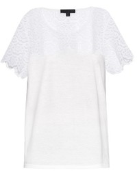 Burberry Prorsum Swiss Lace And Jersey T Shirt