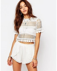 Missguided Premium Lace Crop Top