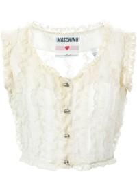 Moschino Vintage Lace Frill Waistcoat