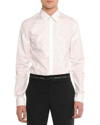Lace front poplin shirt white medium 444391