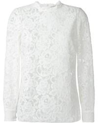 Saint Laurent Floral Lace Blouse