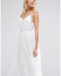 4e5334696ac ... Asos Bridal Embroidered Cami Mesh Maxi Dress ...