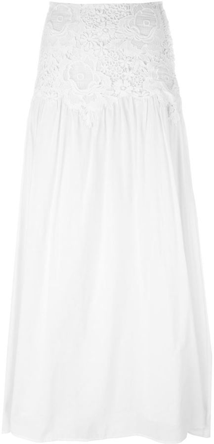 38afbcff See By Chlo Guipure Lace Panel Maxi Skirt