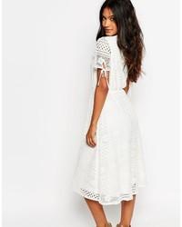 Boohoo Lace Midi Dress 34 Asos Lookastic Uk