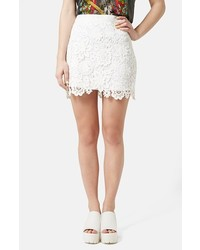 Crochet lace miniskirt medium 201462