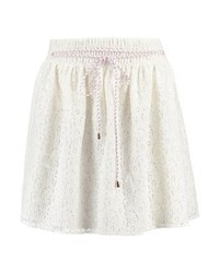 Esprit Floral Mini Skirt Off White
