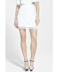 WAYF Textured A Line Skirt