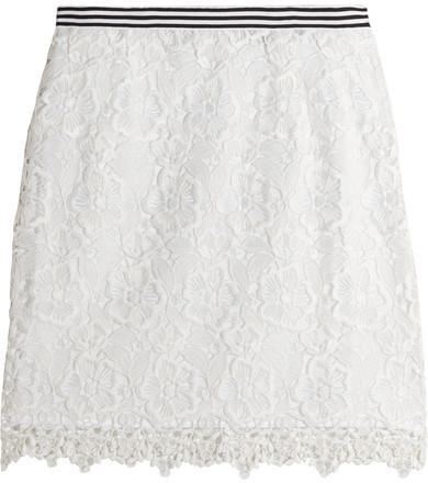 Topshop Unique Taplow Guipure Lace Mini Skirt White