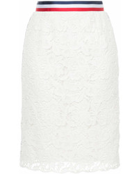 Han Ahn Soon Floral Lace Embroidered Pencil Skirt