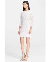 White Lace Sheath Dress