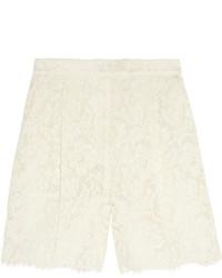Valentino Cotton Blend Lace Shorts