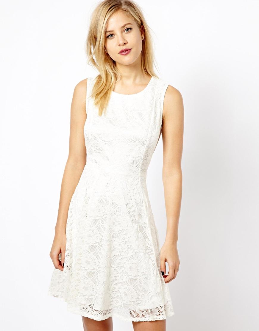 3c428edd6e0e ... White Lace Skater Dresses A Wear Lace Skater Dress