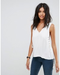Asos Tank With Lace Up Sides