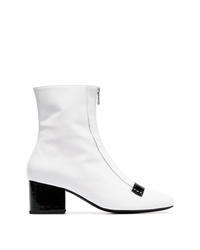 Dorateymur White 55 Zip Up Patent Leather Boots