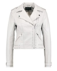 Faux leather jacket stone medium 3993164