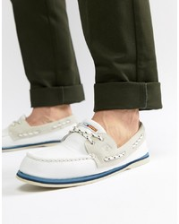 Sperry Topsider Nautical Boat Shoes In White