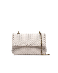 Bottega Veneta Beige Olimpia Intrecciato Mini Leather Shoulder Bag