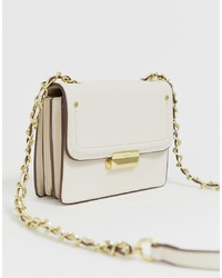 BCBGeneration Lock Detail Cross Body Bag With Chain Detail