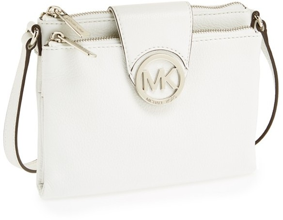 ... White Leather Crossbody Bags MICHAEL Michael Kors Michl Michl Kors  Large Fulton Crossbody Bag ... 8bb096c51300e