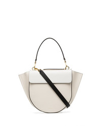 Wandler White And Nude Hortensia Medium Leather Shoulder Bag