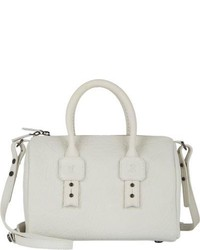 White Leather Duffle Bag