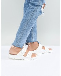 Birkenstock Arizona Eva White Flat Sandals