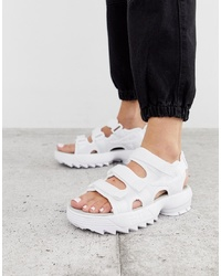 Fila White Disruptor Sandals
