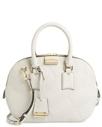 Burberry Small Orchard Check Embossed Leather Satchel