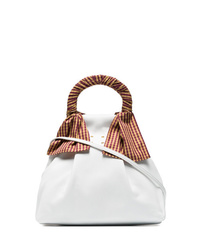 Trademark White Hazel Shopper Nappa Leather Shoulder Bag