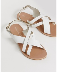 Head over Heels by Dune Head Over Heels Larra White Cross Over Multi Toe Post Sandals