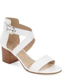 Via Spiga Jobina Crisscross Strap Block Heel Sandal