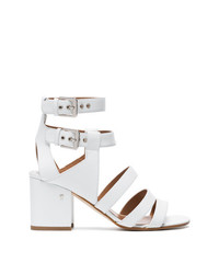 Laurence Dacade White Rela 70 Strappy Leather Sandals