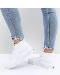Vans Classic Sk8 Hi Trainers In All White