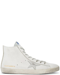 Golden Goose Deluxe Brand White Francy Hi Top Sneakers