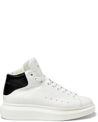 Alexander McQueen Exaggerated Sole Leather High Top Sneakers