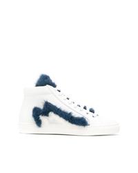 Mr & Mrs Italy Furry Hi Top Sneakers