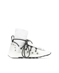Sergio Rossi Lace Up Sock Sneakers