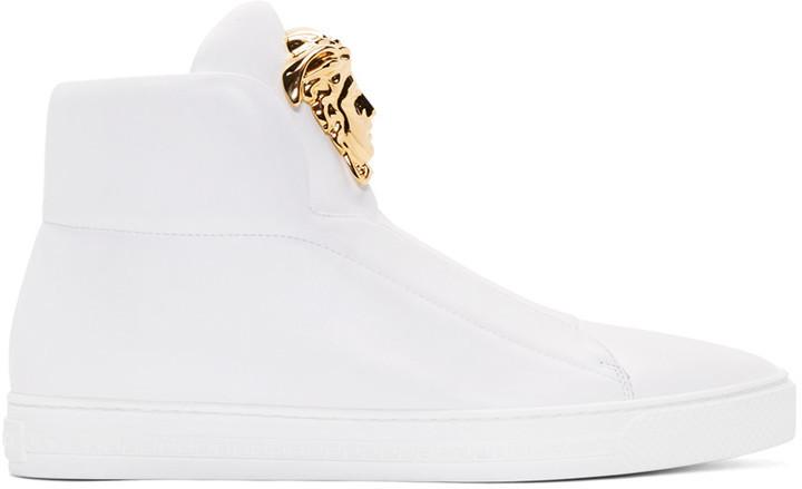 Medusa leather sneakers - White Versace 3XYPs
