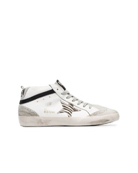 Golden Goose Deluxe Brand White Mid Star Leather Hi Top Sneakers