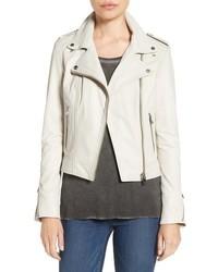 Lamarque donna lambskin leather moto jacket medium 778772