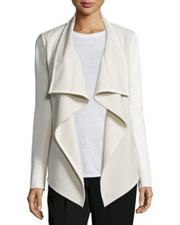 Vince Mixed Media Draped Jacket