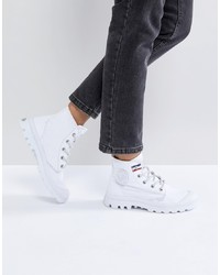 Palladium Pampa White Hi Rive Gauche Flat Ankle Bootsfrench Tape