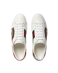 587627651c4 ... Gucci Dragon Ace Embroidered Leather Sneaker