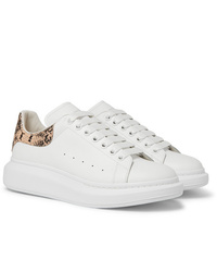 Alexander McQueen Exaggerated Sole Snake Effect And Leather Sneakers
