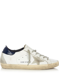 Golden Goose Deluxe Brand Super Star Low Top Leather And Suede Trainers